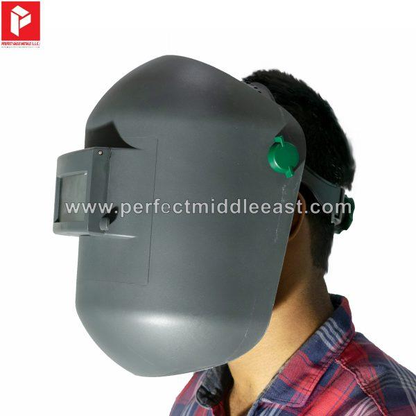 Light weight welding helmet with flip up lens.