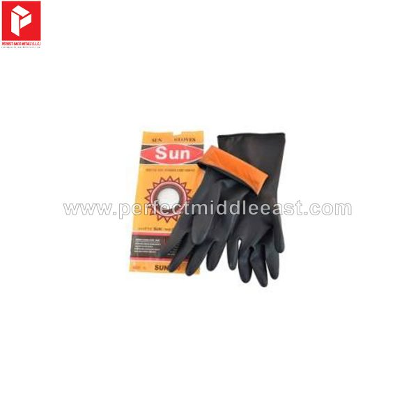 Hand Gloves Rubber Black