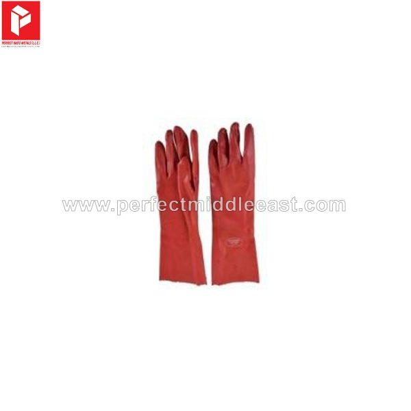 Chemical Gloves PVC Red