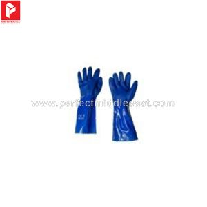 Chemical Gloves PVC Blue