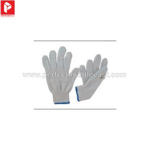 Knitted Gloves White Plain