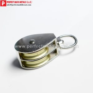 Tackle Pulley Double Wheel Swivel