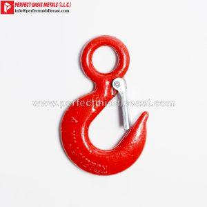 Eye Hoist Hook Red Painted