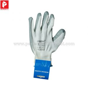 Hand Gloves Grey/White